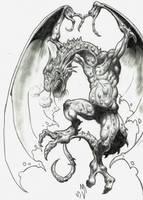 dragon blanco y negro by cazadordeaventuras