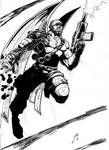 cyborg de futuro apocaliptico