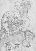 criaturas infernales(lapiz) by cazadordeaventuras