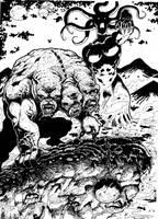 criaturas infernales (tintas) by cazadordeaventuras
