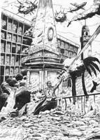 lucha en la plaza de mayo by cazadordeaventuras