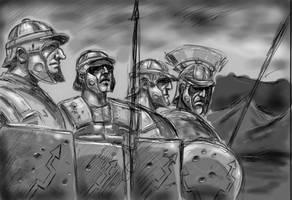 soldados romanos by cazadordeaventuras