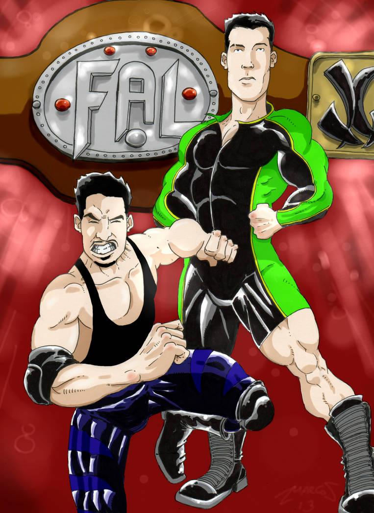dibujo para espectaculo de lucha libre by cazadordeaventuras