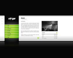 Webdesign - Cirya music by Noergaard