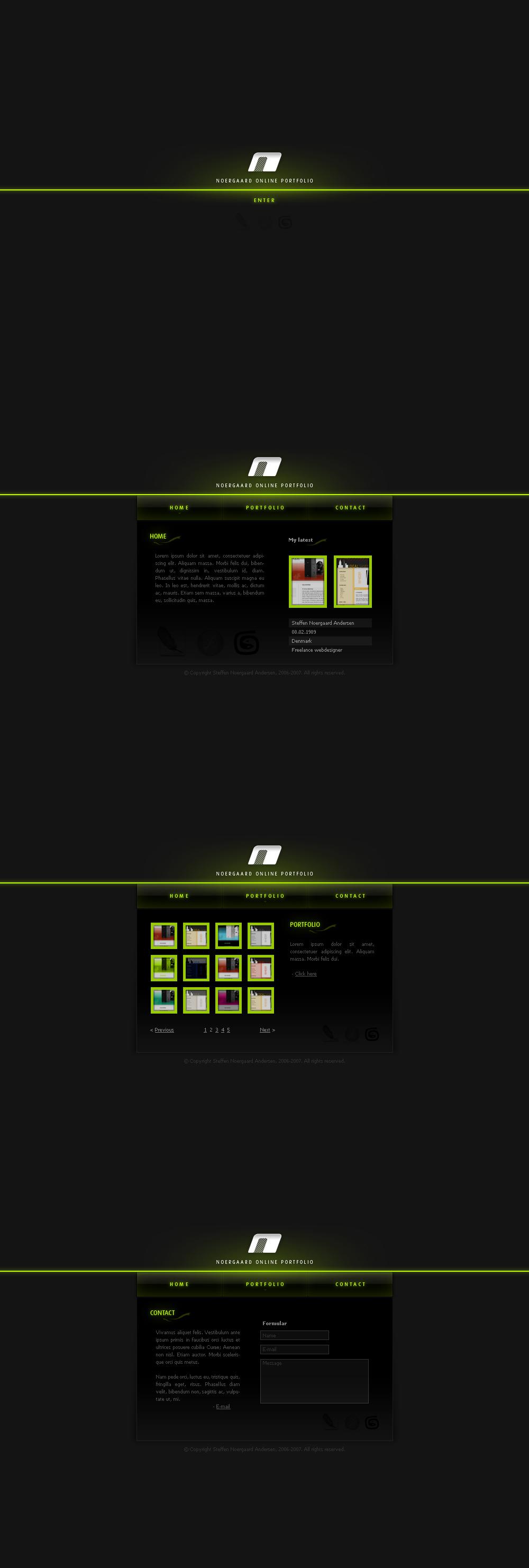 Im-borred - Webdesign by Noergaard