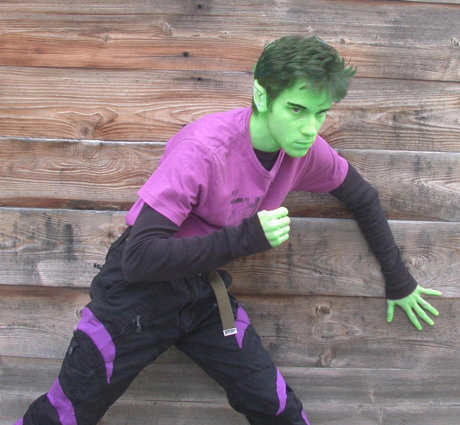 Beastboy Cosplay first test [2010] by moulinneufbeast