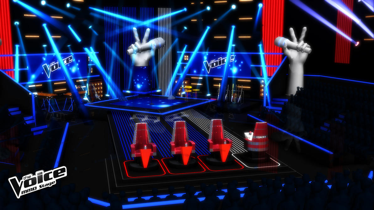Mmd Stage The Voice Blind Auditions B V 2 By
