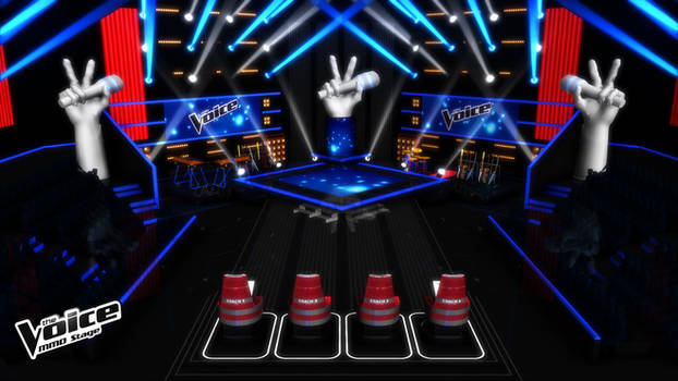 [MMD] Stage - THE VOICE - Blind Auditions (BA) V.2