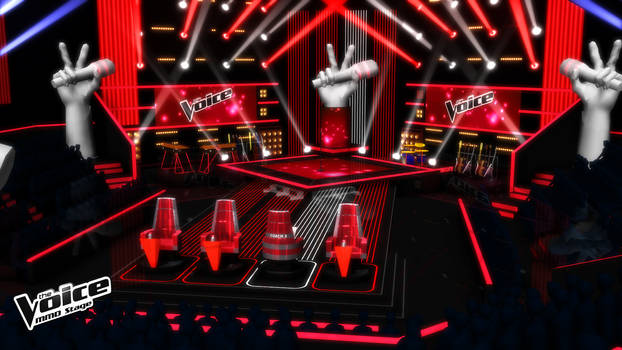 [MMD] Stage - THE VOICE - Blind Auditions (RS) V.2