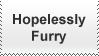 Hopelessly Furry Stamp by krazy3