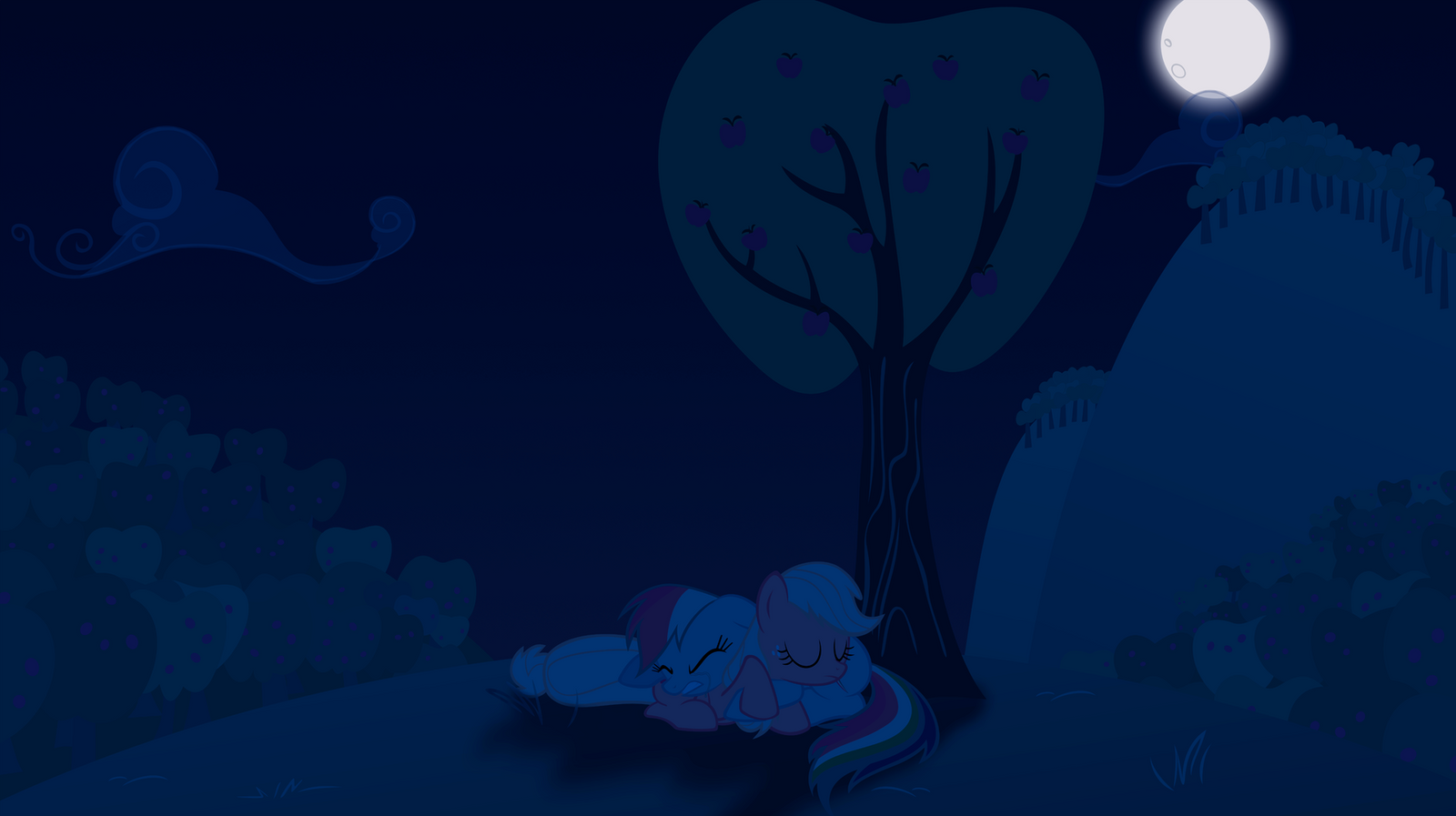 A Solemn Summer Night - Vector w/ Background by krazy3
