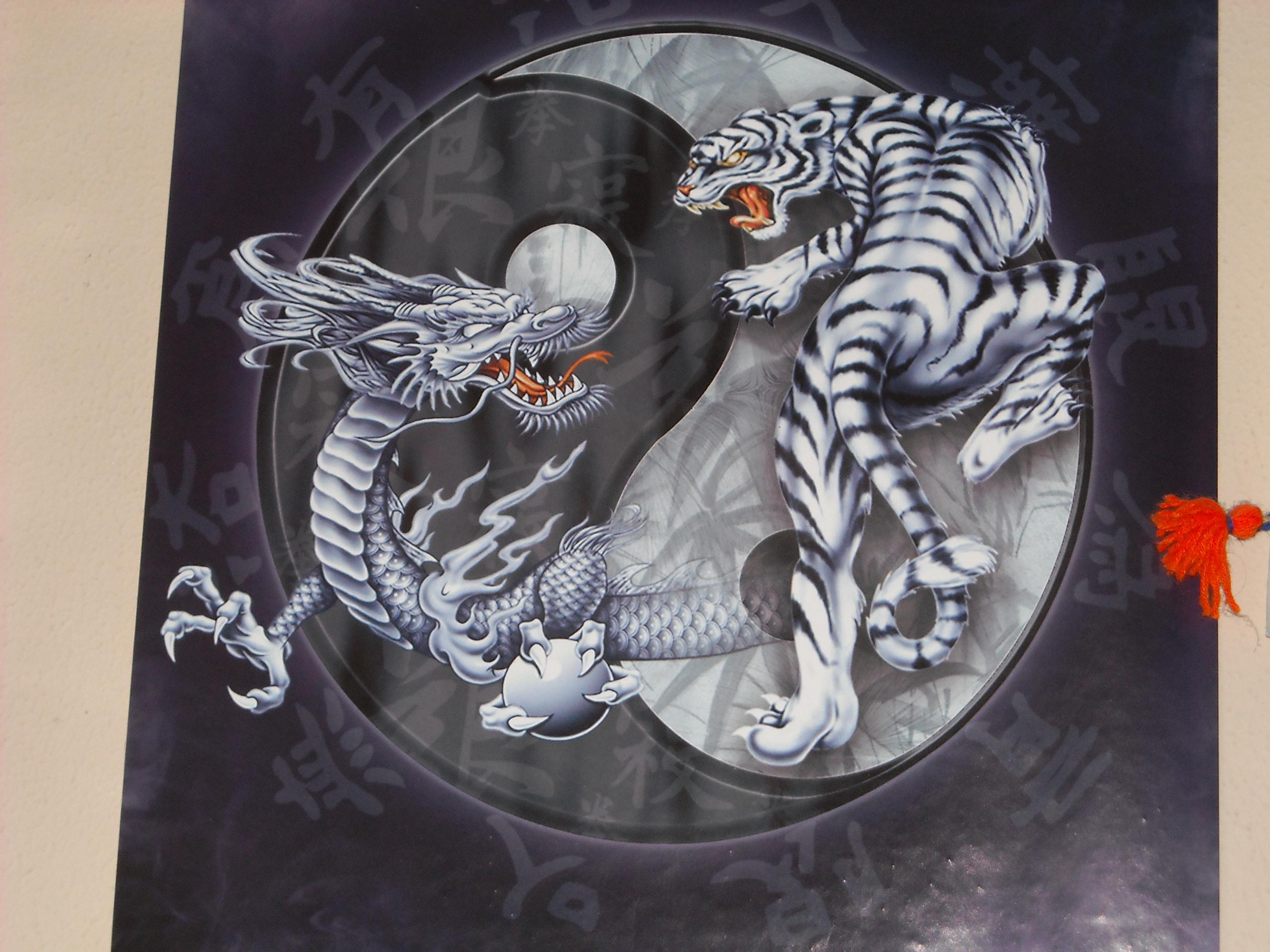 Картинки на рабочий стол дракон и тигр
