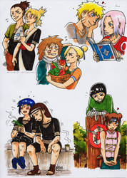 Naruto OTPs by natsumi33
