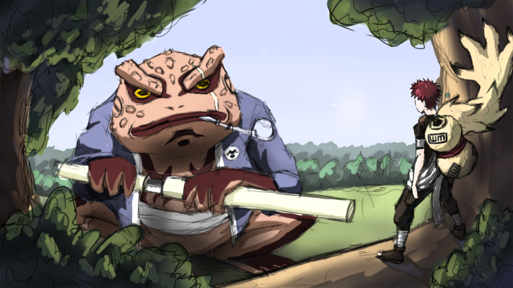 Gaara vs Gamabunta by INowISeeI on DeviantArt