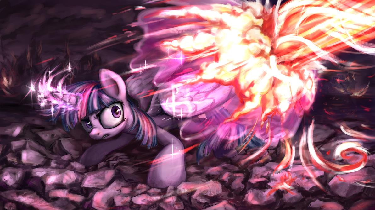 Twilight Sparkle vs Tirek by INowISeeI
