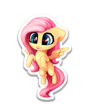 Chibi FlutterShy sticker