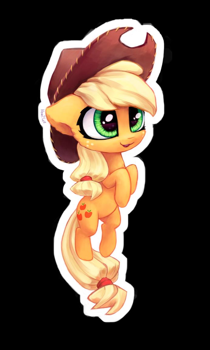Chibi AppleJack sticker by INowISeeI