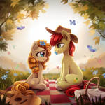 Pear Butter and Bright Mac by INowISeeI