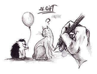 Inktober: Gift by Grumpy-O-Sheep