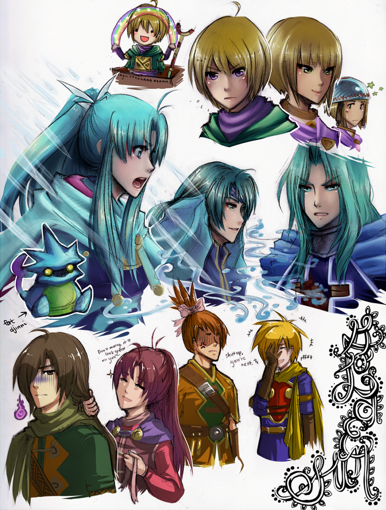 Golden Sun artdump by Glaecis