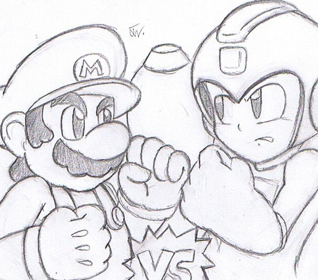 Mario Vs Mega Man by SuperGon-64