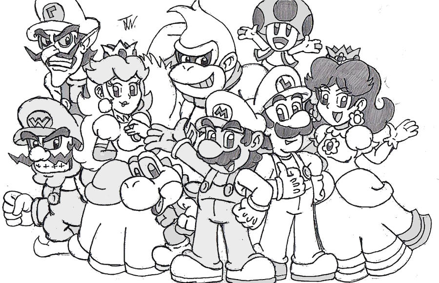 Super mario by supergon 64 on deviantart for Super mario 64 coloring pages
