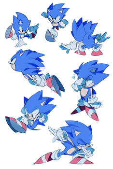 sonic CD sketches