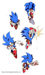 blue poses