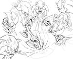 action poses - sonic