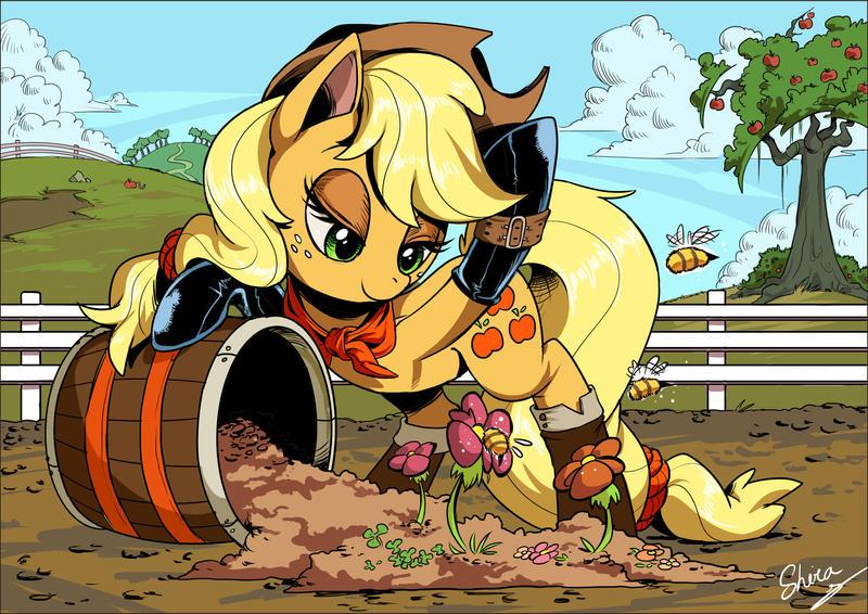 Applejack by Shira-hedgie