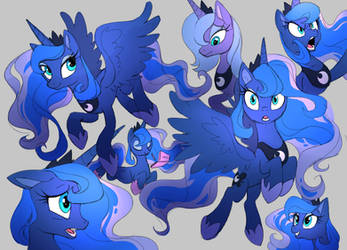 Luna sketches by Shira-hedgie