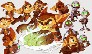 Ratchet and Clank sketches2