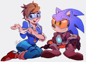 Overwatch x Sonic - Hanging out