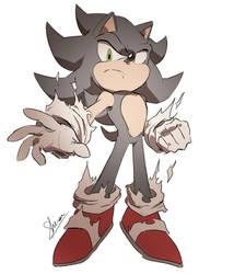 Dark Sonic sketch by Shira-hedgie