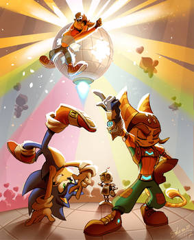 Sonic x Ratchet and Clank x Crash - Let`s DANCE