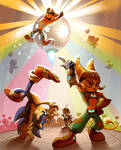 Sonic x Ratchet and Clank x Crash - Let`s DANCE
