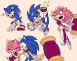 Sonic and Amy sketches