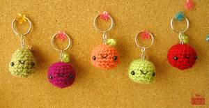 Sweet Baby Fruit Keychains
