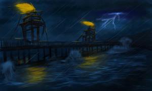 Stormy sea by cjohn22