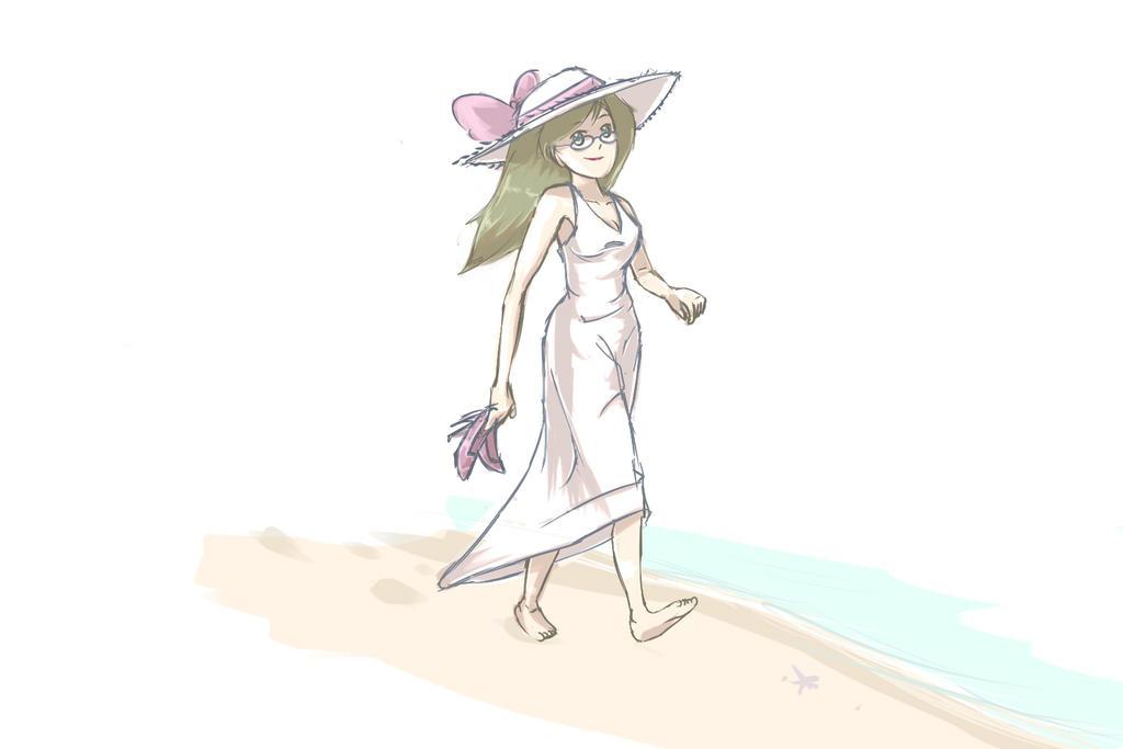 Walk on the beach by cjohn22