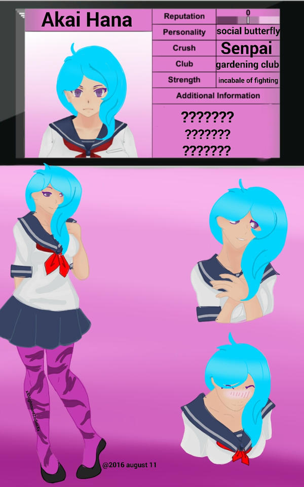 Akai Hana Yandere Sim Oc By Rwbylover34 On Deviantart