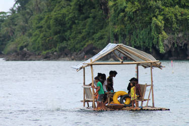 floating boat by judiRth