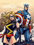Ms. Marvel and Captain America