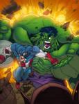 Avengers: Hulk and Cap.