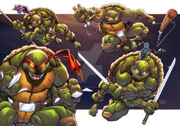 Teenage Mutant Ninja Turtles - TMNT by AlonsoEspinoza