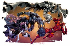The Glyph, Black Phanter, Moon Knight, + Daredevil by AlonsoEspinoza