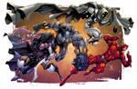 The Glyph, Black Phanter, Moon Knight, + Daredevil