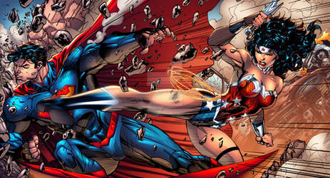 Super Man Vs Wonder Woman by AlonsoEspinoza