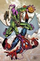Spidey vs Green Goblin by AlonsoEspinoza