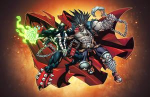 Spawn vs Lobo by AlonsoEspinoza